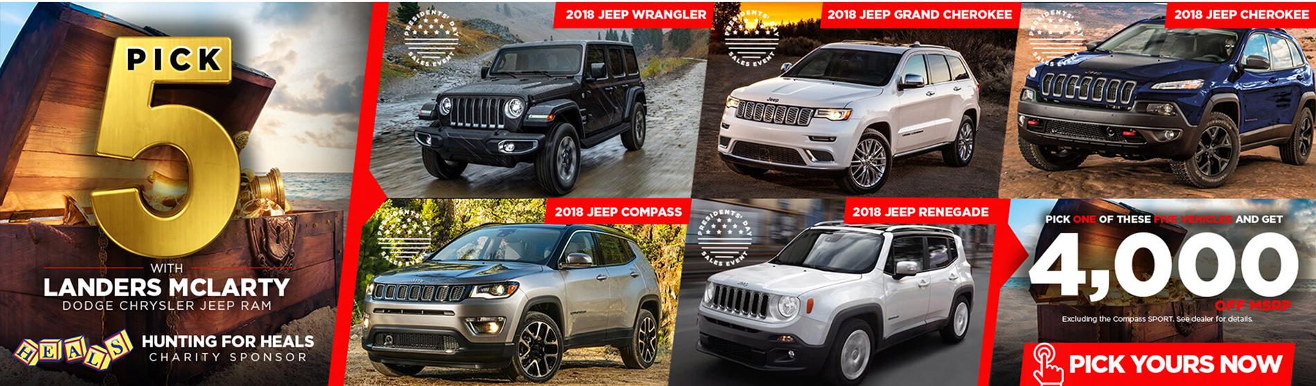Jeep Pick Five Event
